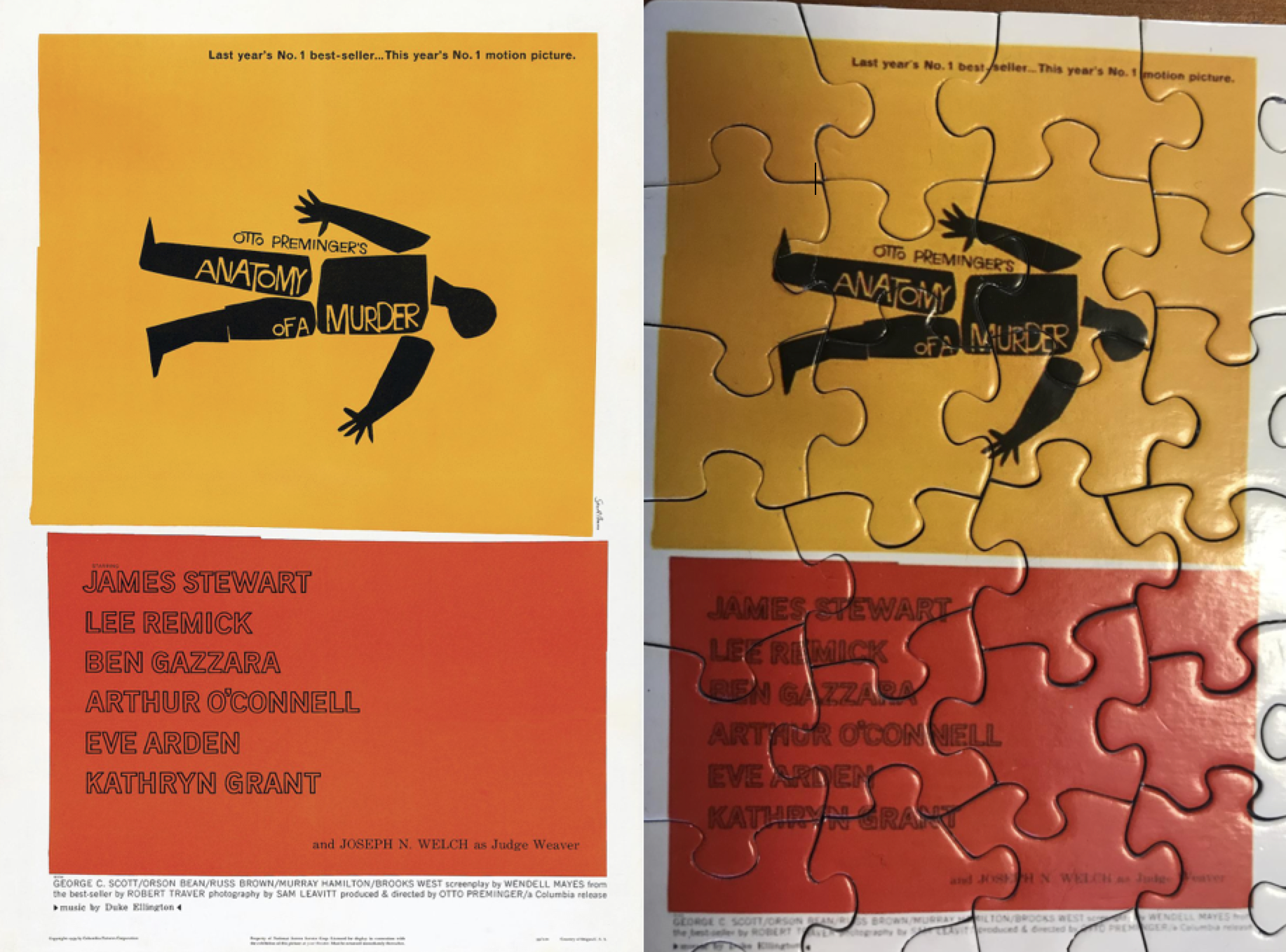 Building My Movie Posters Puzzle: Anatomy of a Murder - Lebeau\'s Le Blog